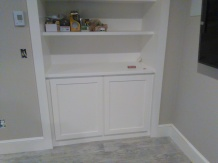 Concealed Components inside cabinet.